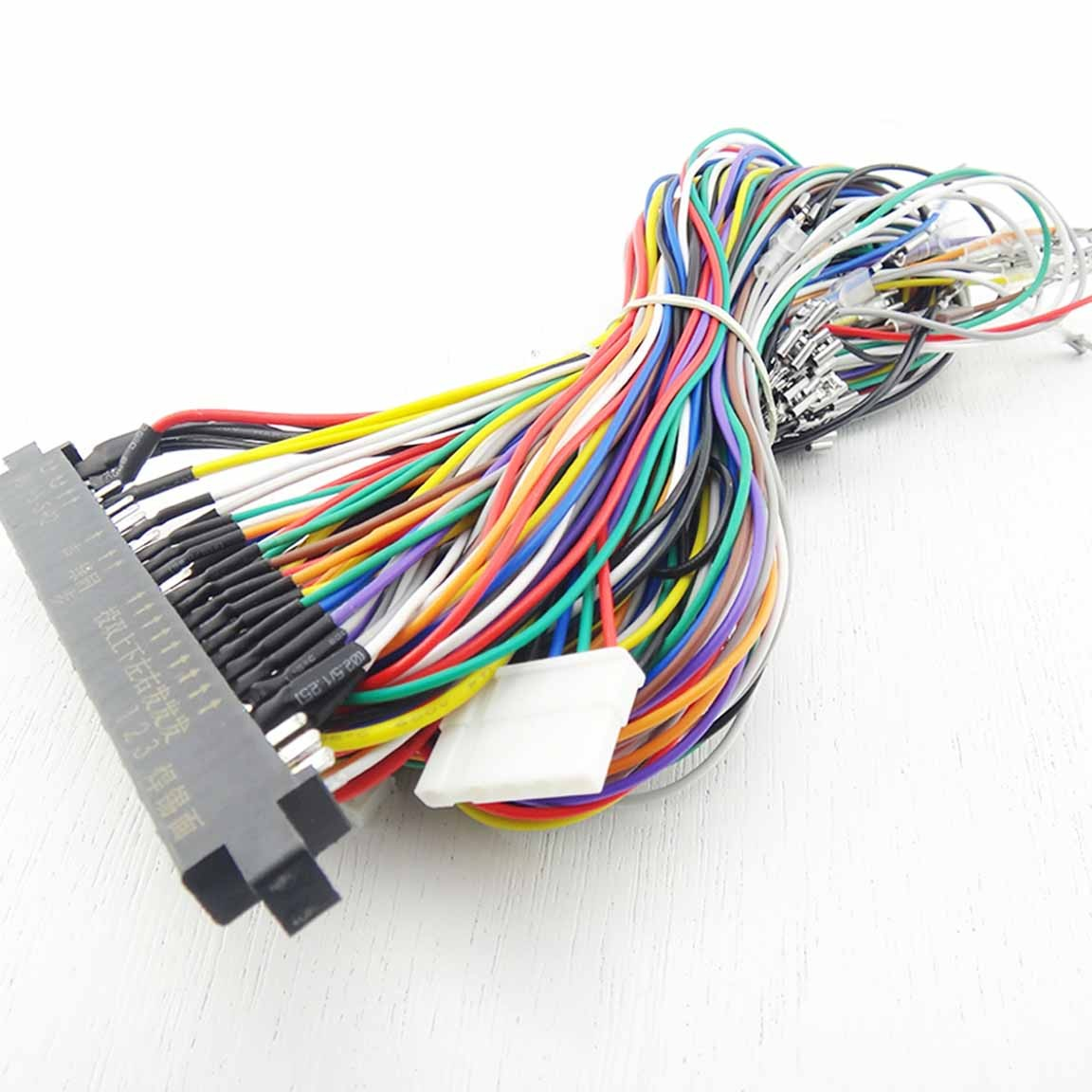 [ZTBE_9966]  Arcade Jamma Harness 6 buttons & -5v (4.8mm) - jammastar.com | Icade Jamma Wiring Harness |  | jammastar.com