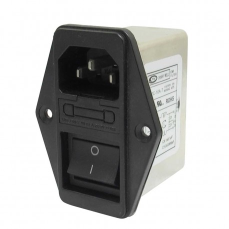 Power socket with EMI filter