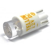 White 12v T10 wedge base