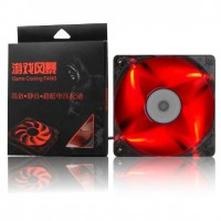 Red Led cooling fan 12x12 cm