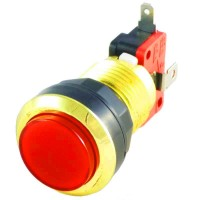 Gold Red LED button