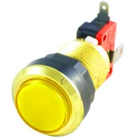 Gold Yellow LED button
