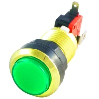 Gold Green LED button