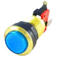 Gold Blue LED button