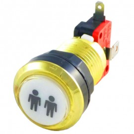 Gold Player 2 LED button