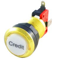 Gold Credit LED button
