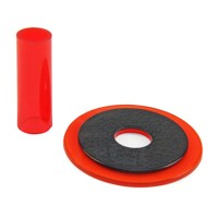 Sanwa JLF-CD translucent red shaft & dustwasher set