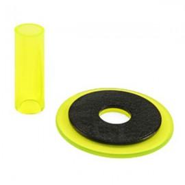 Sanwa JLF-CD translucent yellow shaft & dustwasher set