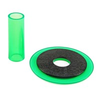 Sanwa JLF-CD translucent green shaft & dustwasher set