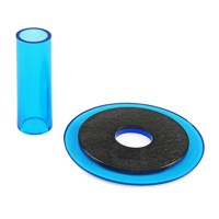 Sanwa JLF-CD translucent blue shaft & dustwasher set
