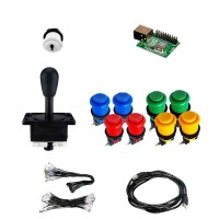 Kit Joystick Arcade Happs - 9 buttons - Xin-Mo USB encoder