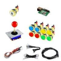 Kit Joystick Arcade Zippyy - 9 gold illuminated buttons - Xin-Mo USB encoder