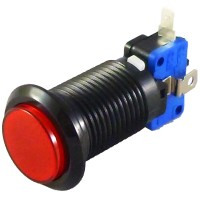 Black Red LED button