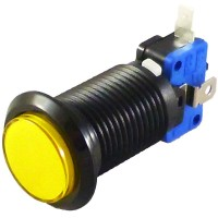 Black Yellow LED button