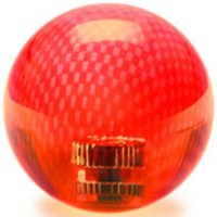 KDiT red transparent carbon mesh balltop