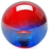 KDiT red & blue translucent balltop