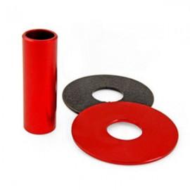 KDiT Red aluminium shaft cover