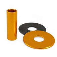 KDiT Yellow aluminium shaft cover