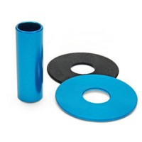 KDiT Light blue aluminium shaft cover