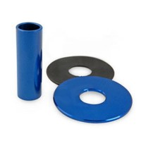 KDiT Blue aluminium shaft cover