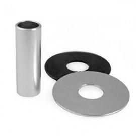KDiT Silver aluminium shaft cover
