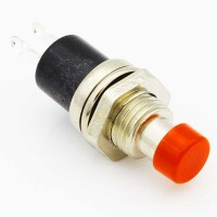 Red 7 mm momentary push button