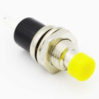 Yellow 7 mm momentary push button