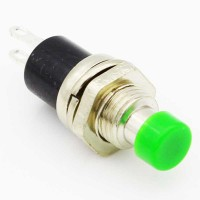 Green 7 mm momentary push button