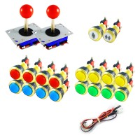 Kit Joystick Arcade Zippyy - 18 gold illuminated buttons