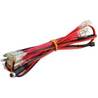 Insulated 12v LED Harness with Jack connector for Illuminated Arcade Buttons 6.3mm