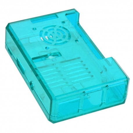 Raspberry Pi3 Blue case with fan grid