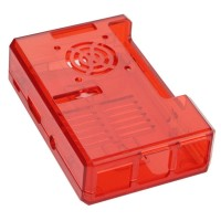 Raspberry Pi3 Red case with fan grid