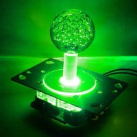 LED 2-4-8 way joystick with green balltop