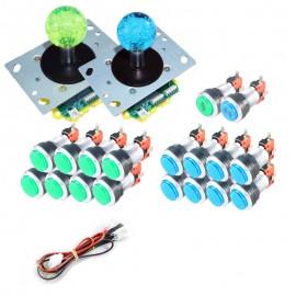 Kit LED Joysticks - 18 Silver LED buttons