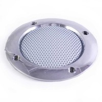 65 mm silver and white HP cover plate