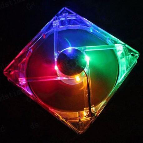 4 LED cooling fan 120x120mm