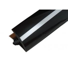 T-Molding 19 mm - Black & Chrome - 1m
