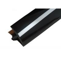 T-Molding 19 mm - Black & Chrome