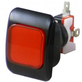 50 x 37 mm Credit Button - Red