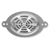 Crown Silver HP oval cover plate