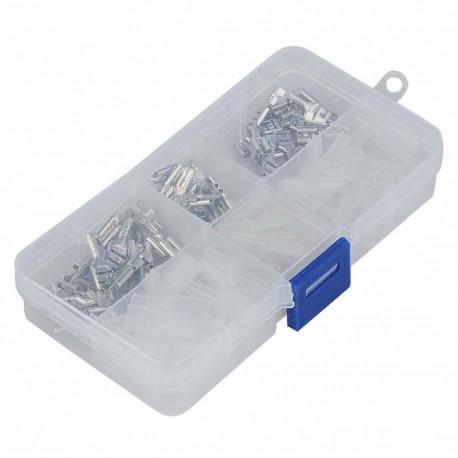 Crimped terminals connectors set - 120 pieces