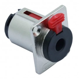 Audio Jack 6.3mm Connector - Silver