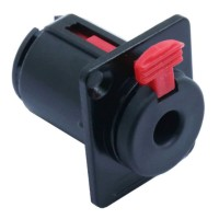 Audio Jack 6.3mm Connector - Black