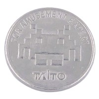 Taito Station tokens 24 mm x 10