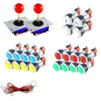 Kit Joysticks & Silver LED Buttons
