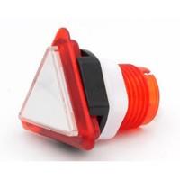 Triangular Translucent Red  Button