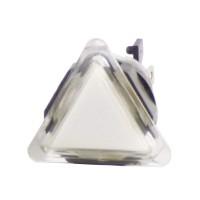 Triangular Translucent White  Button