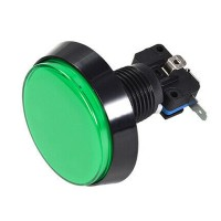 60 mm Green Arcade Button