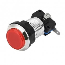 Chrome Red LED button