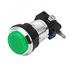 Chrome Green LED button